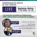 """Live 11/06/2020: Lei Anticrime: inovações no Código Penal, ANPP e novos prazos na Progressão de Regime"""""""