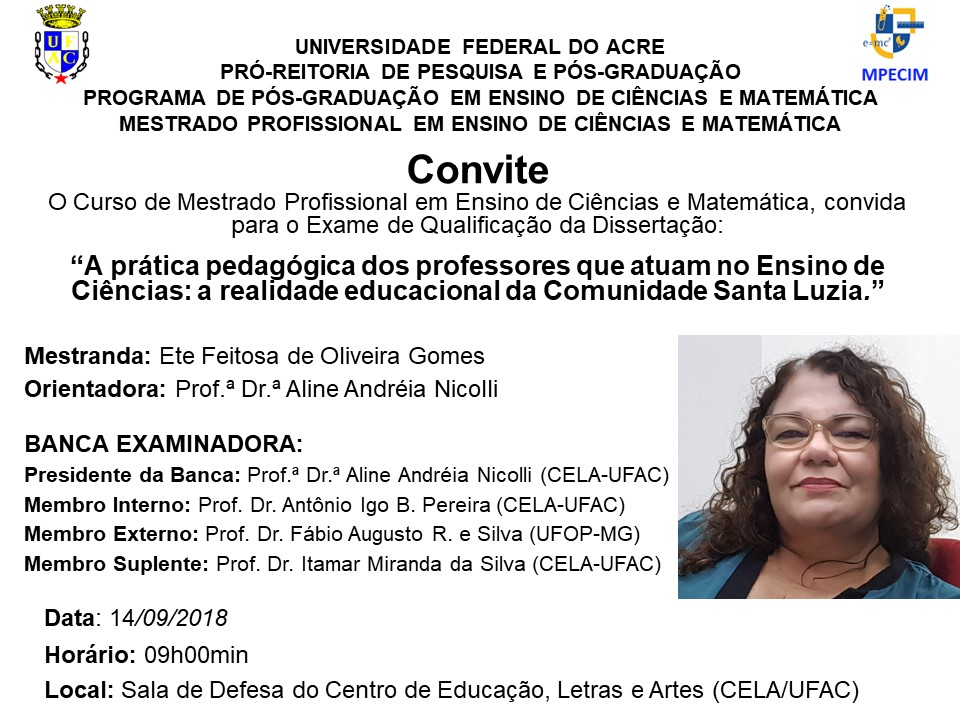 Convite Qualificação - Ete Gomes