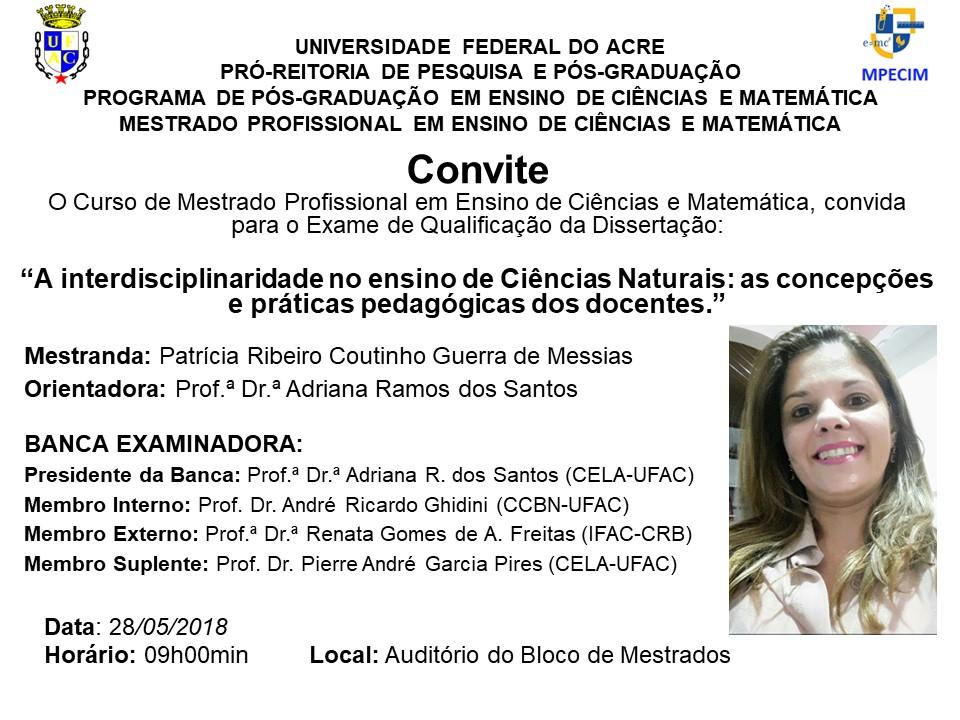 Convite Qualificação - Patrícia Messias