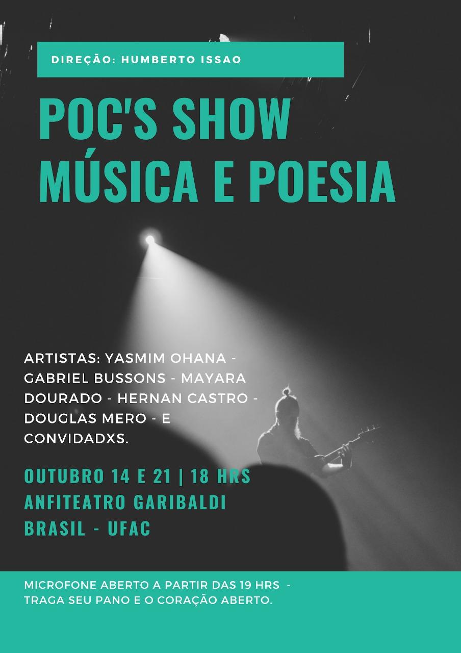 Poc´s Show: Música e poesia