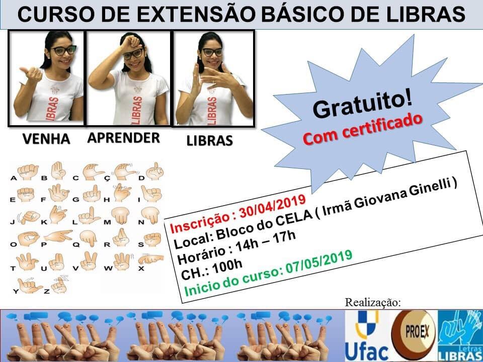 Ufac abre inscrições para curso de Libras nesta 3ª-feira