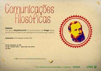 Palestra: Comunicações Filosóficas