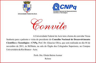 convite cnpq