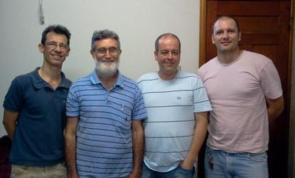 Criadores da revista Nawá. Da esquerda para a direita - Luis Maggi, Enock Pessoa, Flávio Lofêgo, Miguel Bortolini