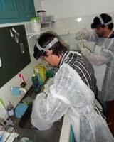 Pesquisadores do Projeto de Malária Gestacional, no Centro de Pesquisa Clínica, em Cruzeiro do Sul-AC.