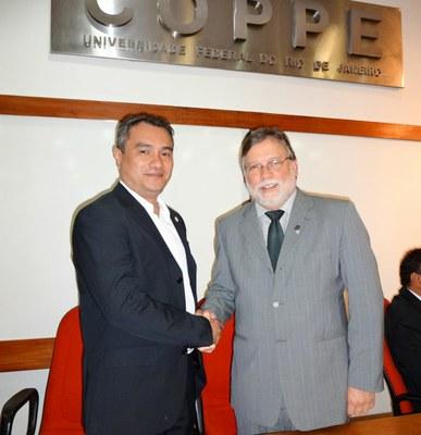 Reitor Minoru Kinpara e o Vice-Reitor da UFRJ Antônio José Ledo