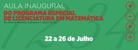 Convite - Aula inaugural do Programa Especial de Licenciatura em Matemática