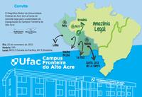 Convite - Inauguração do Campus Fronteira