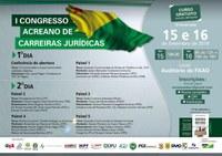 Convite: 1º Congresso Acreano de Carreiras Jurídicas