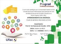 Convite: Atividades Esfor - Aprimoramento da Docência: Criação de Aplicativos relacionados ao Ensino - Rio Branco e Cruzeiro do Sul