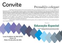 Convite - Debates sobre educação especial