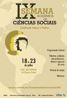 Convite: IX Semana Acadêmica de Ciências Sociais