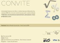 Convite: Palestra de Matemática