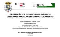 Convite - Palestra: Geomecânica de resíduos sólidos urbanos: modelagem e monitoramento