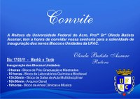 Convite para Inauguração de Blocos e Unidades Administrativas