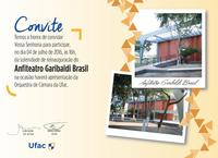 Convite: Reinauguração do Anfiteatro Garibaldi Brasil