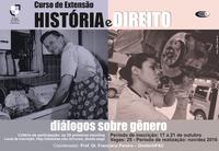Curso de Extensão - História e Direito: Diálogos Sobre Gênero