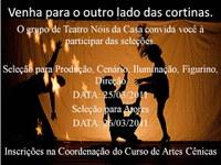 """Edital de abertura de inscrições para a seleção de participantes para o projeto de extensão grupo de teatro da UFAC - """"Nois da casa"""""""