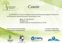 Inscrições abertas para I Encontro de Políticas de Desenvolvimento Territorial do Acre