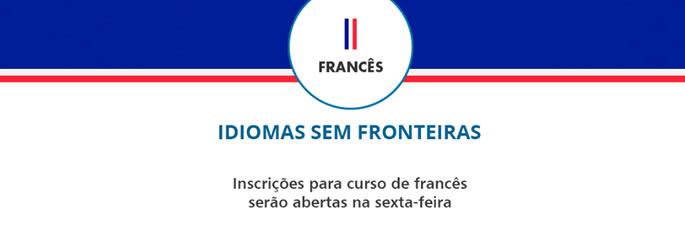 Inscrições para curso de francês serão abertas na sexta-feira
