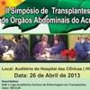 Liga Acadêmica promove simpósio sobre transplantes de órgãos abdominais