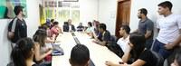 Reitor da Ufac recebe líderes das atléticas acadêmicas