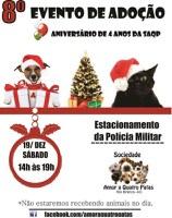 Sociedade 'Amor a Quatro Patas' realiza feira de adoção de animais