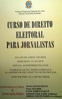 TRE-AC oferece Curso de Direito Eleitoral para jornalistas