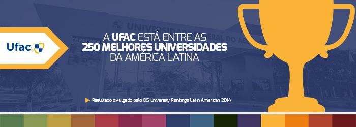 Ufac figura entre melhores universidades da América Latina