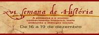 XVI Semana de História divulga normas para submissão e análise de trabalhos e ficha de inscrição