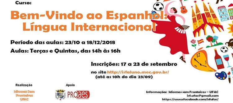 Programa Idiomas sem Fronteiras – Espanhol oferece curso Espanhol Básico