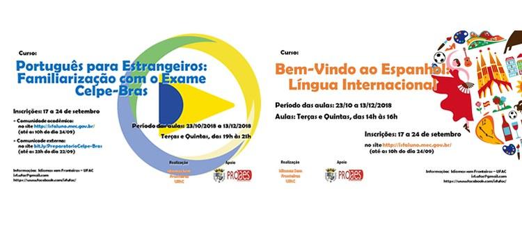 Prorrogação do prazo para inscrições de Espanhol e Português para Estrangeiros